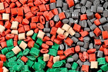 differnet tinted polymer resins