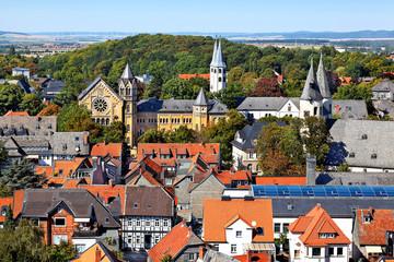 Blick auf Goslar mit Ratsgymnasium, Deutschland