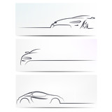 Silhouette of car. Vector illustration