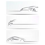 Fototapety Silhouette of car. Vector illustration