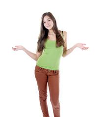 Teenager mit ausgebreiteten Armen