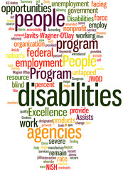 Excellence Program Assists People With Disabilities Concept