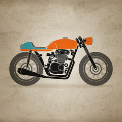 retro motorbike (canvas version)