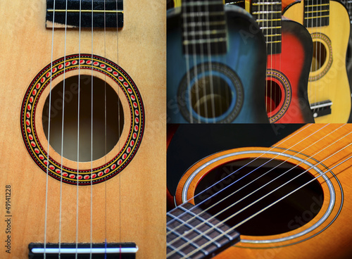Guitar collage