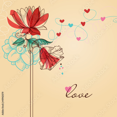 Valentine's day greeting card love message