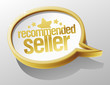Recommended seller shiny speech bubble