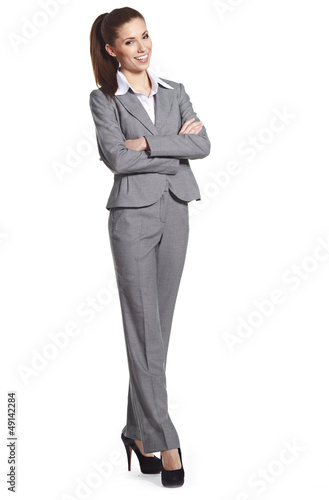business woman, isolated on white background