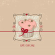 Love cupcake, Valentine day cute card
