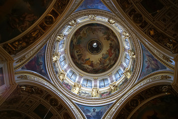 Cupola of the St. Isaak cathedral