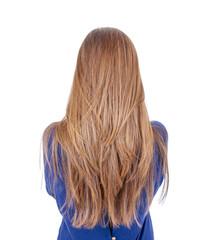 Teenager mit langen Haaren