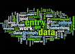 Data Entry Covering The Basics Concept