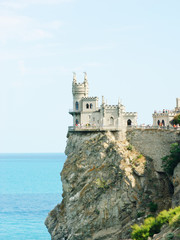 Swallow's Nest Castle tower, Crimea, Ukraine