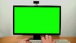 Green screen monitor and keyboard
