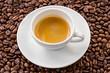 Espresso and coffee bean