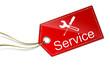 Schild Anhänger Service