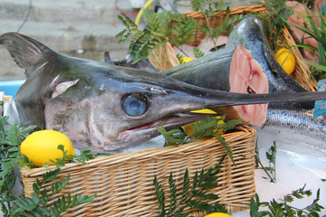 Swordfish at a French market