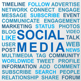 Blue social media keywords