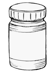 bottle of medicine