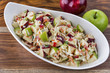 Coleslaw with red and green apples