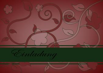 Karte, florales Muster, Einladung
