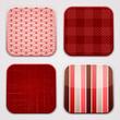 red Textile Squares