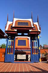 Arched entrance of Thai house style