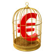 Birdcage with Euro currency symbol inside