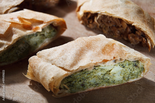 Strudel filling with broccoli