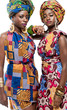 Beautiful African fashion models.