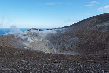 Grand (Fossa) crater of Vulcano island near Sicily, Italy