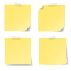 Notizzettel, gelb