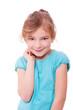 Kleines Mädchen mit verschmitztem Lächeln