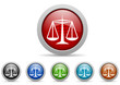 justice vector icon set