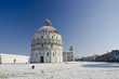 Piazza dei Miracoli in Pisa after a Snowstorm