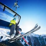 Fototapeta Alpy - austria - Sporty Zimowe