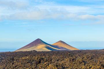 volcano in timanfaya national park in Lanzarote, Spain