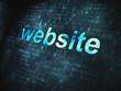 Web design SEO concept: Website on digital background