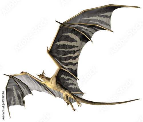 Deurstickers Draken Flying Dragon - Computer Artwork