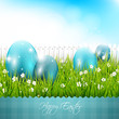 Modern Easter blue background