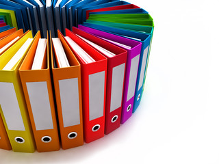 colored office folders
