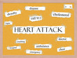 Heart Attack Corkboard Word Concept
