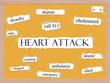 Heart Attack Corkboard Word Concept