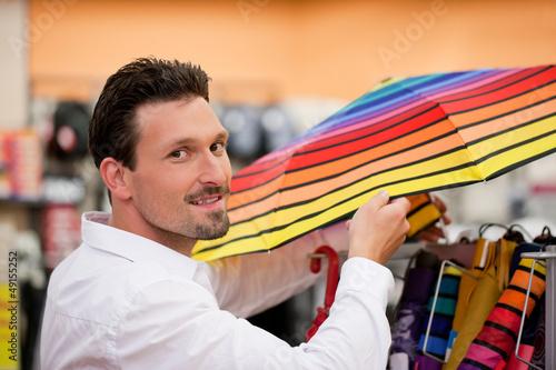 Shopper buying in supermarket