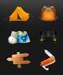 Tourism icon set