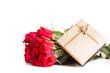 Rosen und Geschenkbox