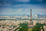 Eiffel tower and La Defense district - 49155612