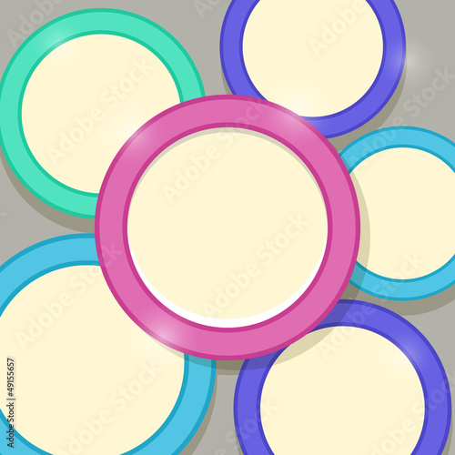 Abstract Modern Shiny Card Template with Colorful Rings