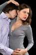 passionate loving couple