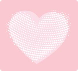 hand made style heart print - girlish design template