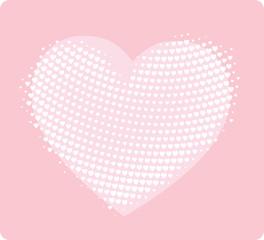 hand made style heart print - girlish design template